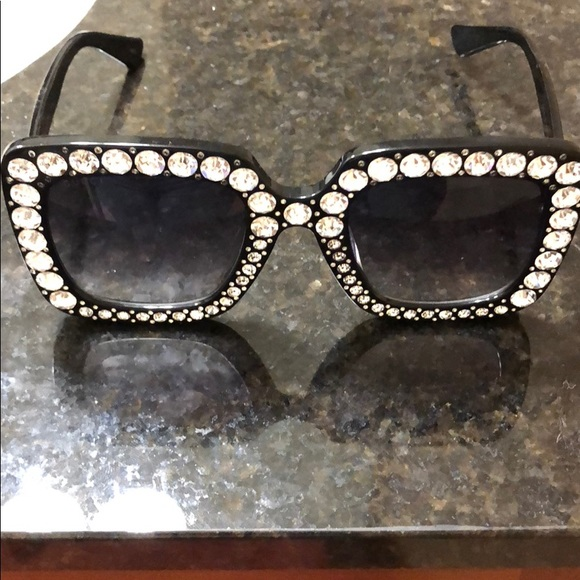 b487543430 Gucci Accessories - Gucci Rhinestone Sunglasses